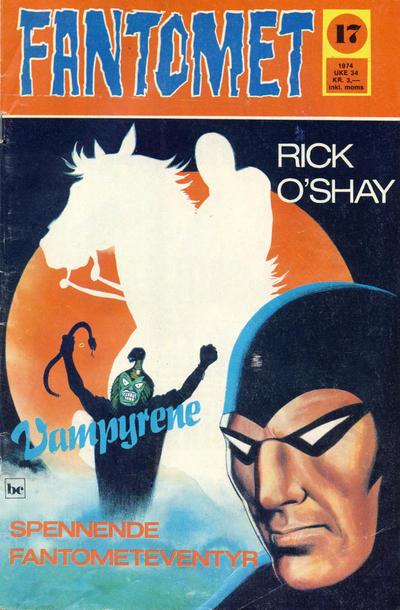 Cover for Fantomet (Nordisk Forlag, 1973 series) #17/1974