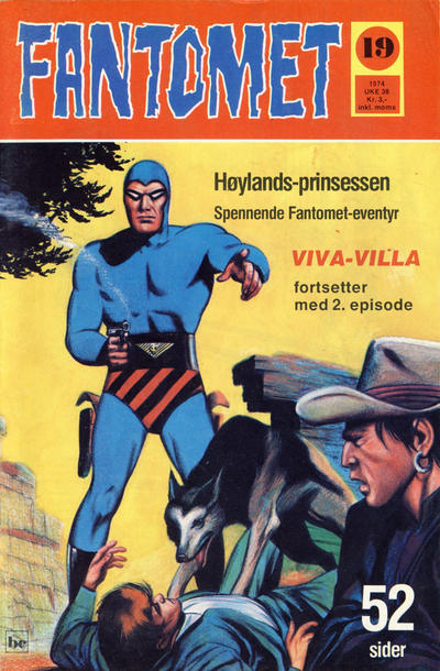 Cover for Fantomet (Nordisk Forlag, 1973 series) #19/1974