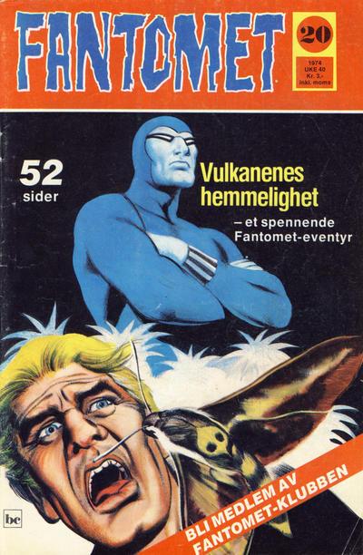 Cover for Fantomet (Nordisk Forlag, 1973 series) #20/1974