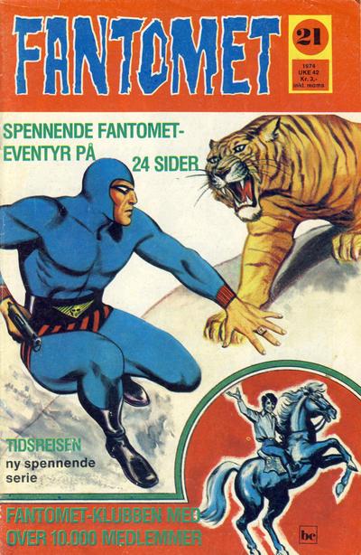 Cover for Fantomet (Nordisk Forlag, 1973 series) #21/1974