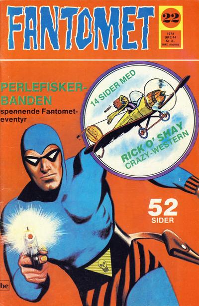 Cover for Fantomet (Nordisk Forlag, 1973 series) #22/1974