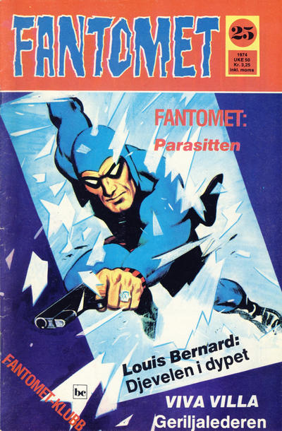 Cover for Fantomet (Nordisk Forlag, 1973 series) #25/1974