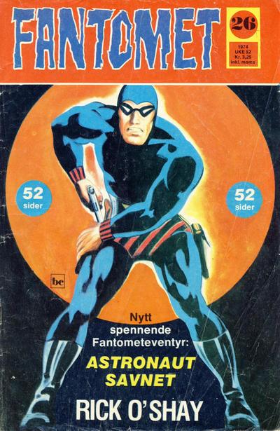 Cover for Fantomet (Nordisk Forlag, 1973 series) #26/1974