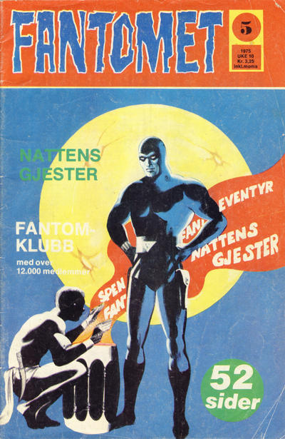 Cover for Fantomet (Nordisk Forlag, 1973 series) #5/1975