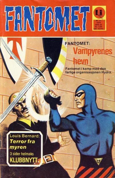 Cover for Fantomet (Nordisk Forlag, 1973 series) #11/1975