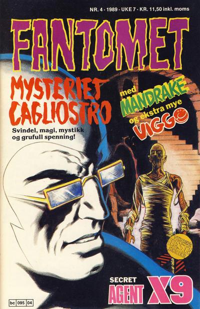 Cover for Fantomet (Semic, 1976 series) #4/1989