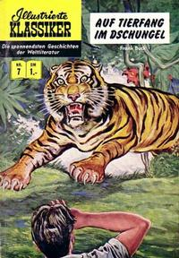 Cover Thumbnail for Illustrierte Klassiker [Classics Illustrated] (BSV - Williams, 1956 series) #7 - Auf Tierfang im Dschungel [HLN 16]