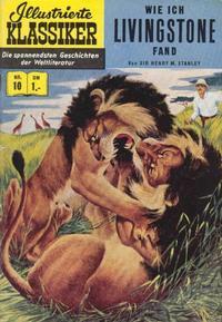 Cover Thumbnail for Illustrierte Klassiker [Classics Illustrated] (BSV - Williams, 1956 series) #10 - Wie ich Livingstone fand [HLN 16]