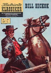 Cover Thumbnail for Illustrierte Klassiker [Classics Illustrated] (BSV - Williams, 1956 series) #27 - Bill Hickok [HLN 32]