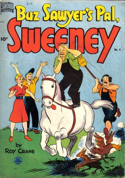 Cover for Buz Sawyer's Pal, Sweeney (Pines, 1949 series) #4