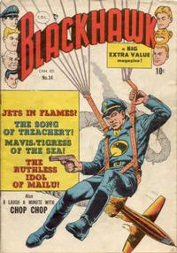 Cover Thumbnail for Blackhawk (Bell Features, 1949 series) #34
