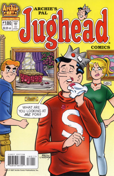 Cover for Archie's Pal Jughead Comics (Archie, 1993 series) #180