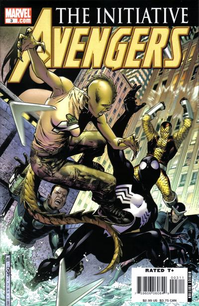 Cover for Avengers: The Initiative (Marvel, 2007 series) #3