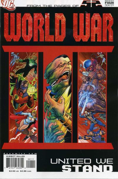 Cover for 52 / World War III Part Four: United We Stand (DC, 2007 series) #1