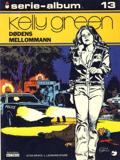 Cover for Serie-album (Semic, 1982 series) #13 - Kelly Green Dødens mellommann