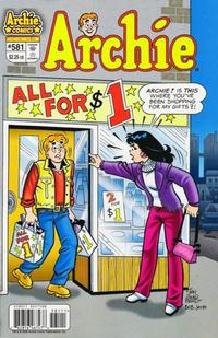 Cover Thumbnail for Archie (Archie, 1959 series) #581