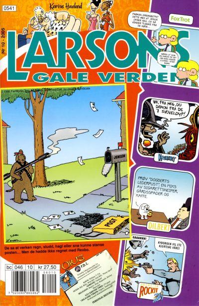 Cover for Larsons gale verden (Bladkompaniet / Schibsted, 1992 series) #10/2005