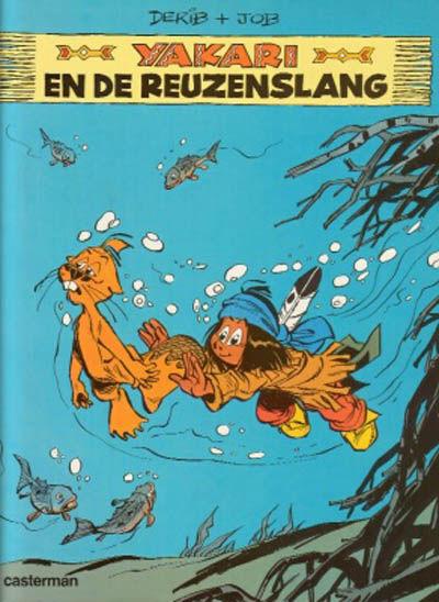 Cover for Yakari (Casterman, 1977 series) #17 - Yakari en de reuzenslang