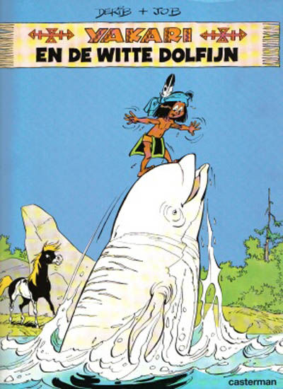 Cover for Yakari (Casterman, 1977 series) #21 - Yakari en de witte dolfijn