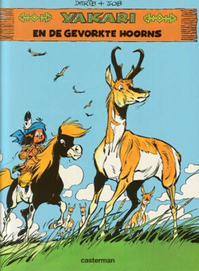 Cover for Yakari (Casterman, 1977 series) #23 - Yakari en de gevorkte hoorns