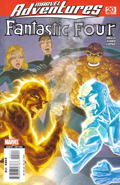 Cover for Marvel Adventures Fantastic Four (Marvel, 2005 series) #20