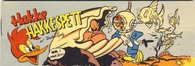 Cover for Hakke Hakkespett (Serieforlaget / Se-Bladene / Stabenfeldt, 1957 series) #1 [1957]