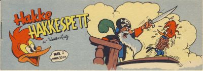 Cover for Hakke Hakkespett (Serieforlaget / Se-Bladene / Stabenfeldt, 1957 series) #2 [1957]