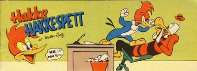 Cover for Hakke Hakkespett (Serieforlaget / Se-Bladene / Stabenfeldt, 1957 series) #16 [1957]