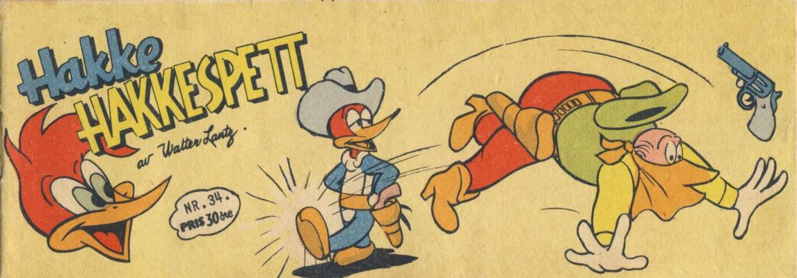 Cover for Hakke Hakkespett (Serieforlaget / Se-Bladene / Stabenfeldt, 1957 series) #34/1958