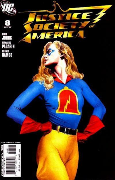 Cover for Justice Society of America (DC, 2007 series) #8 [Alex Ross Cover]