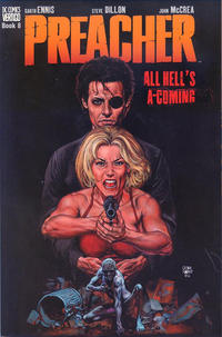 Cover Thumbnail for Preacher (DC, 1996 series) #8 - All Hell's A-Coming [First Printing]