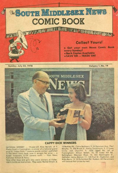 Cover for The South Middlesex News Comic Book (The Middlesex News, 1978 series) #v1#19