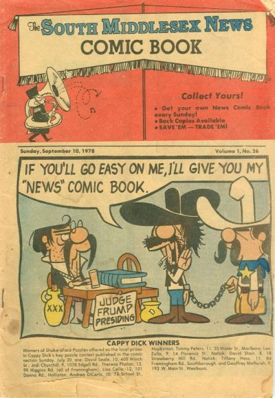 Cover for The South Middlesex News Comic Book (The Middlesex News, 1978 series) #v1#26