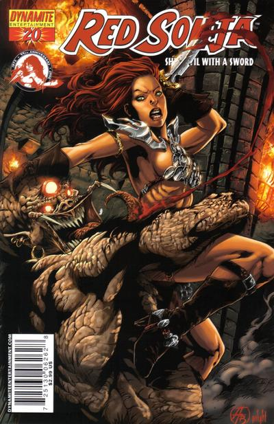 Cover for Red Sonja (Dynamite Entertainment, 2005 series) #20 [Adriano Batista Cover]