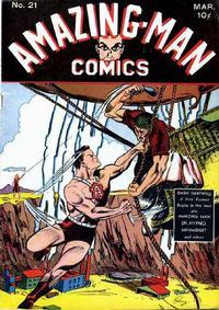 Cover Thumbnail for Amazing Man Comics (Centaur, 1939 series) #21