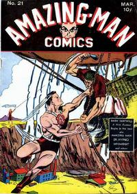 Cover Thumbnail for Amazing Man Comics (Centaur, 1939 series) #21