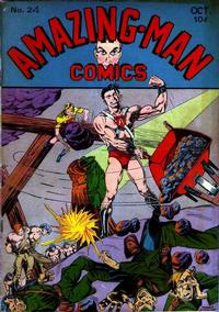Cover Thumbnail for Amazing Man Comics (Centaur, 1939 series) #24