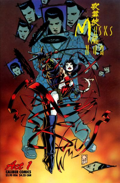Cover for Kabuki: Masks of the Noh (Caliber Press, 1996 series) #1