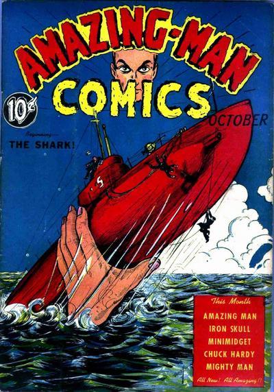 Cover for Amazing Man Comics (Centaur, 1939 series) #6