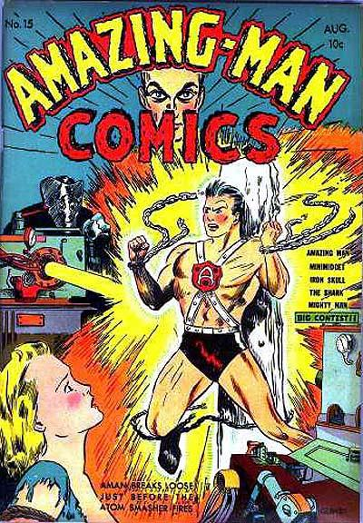 Cover for Amazing Man Comics (Centaur, 1939 series) #15
