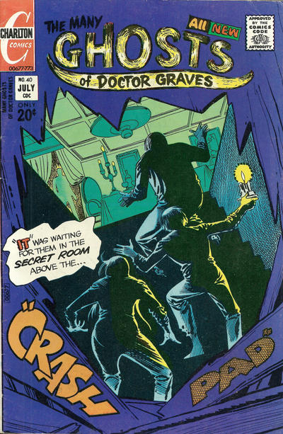Cover for The Many Ghosts of Dr. Graves (Charlton, 1967 series) #40