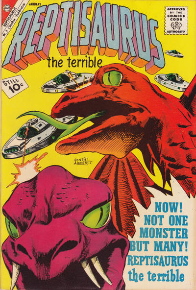 Cover for Reptisaurus (Charlton, 1962 series) #3