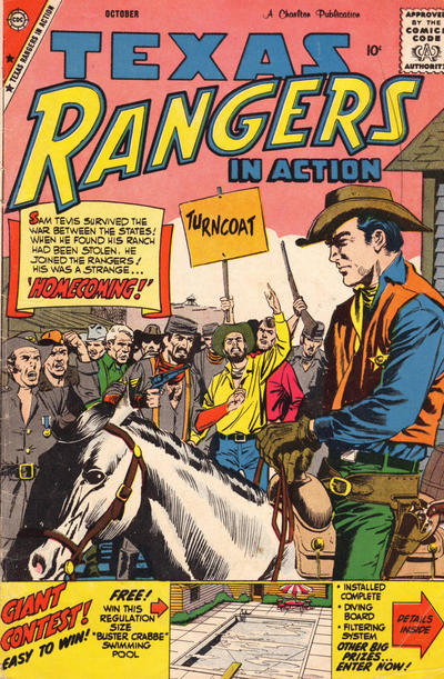 Cover for Texas Rangers in Action (Charlton, 1956 series) #18