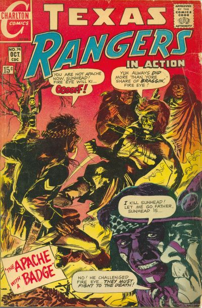 Cover for Texas Rangers in Action (Charlton, 1956 series) #74