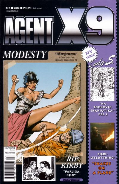 Cover for Agent X9 (Egmont, 1997 series) #3/2007