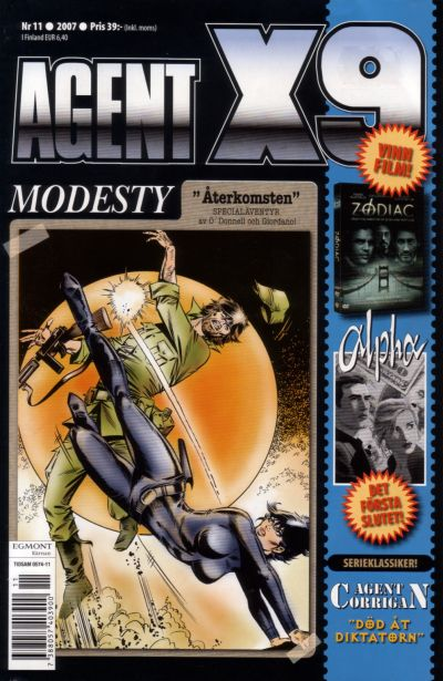 Cover for Agent X9 (Egmont, 1997 series) #11/2007