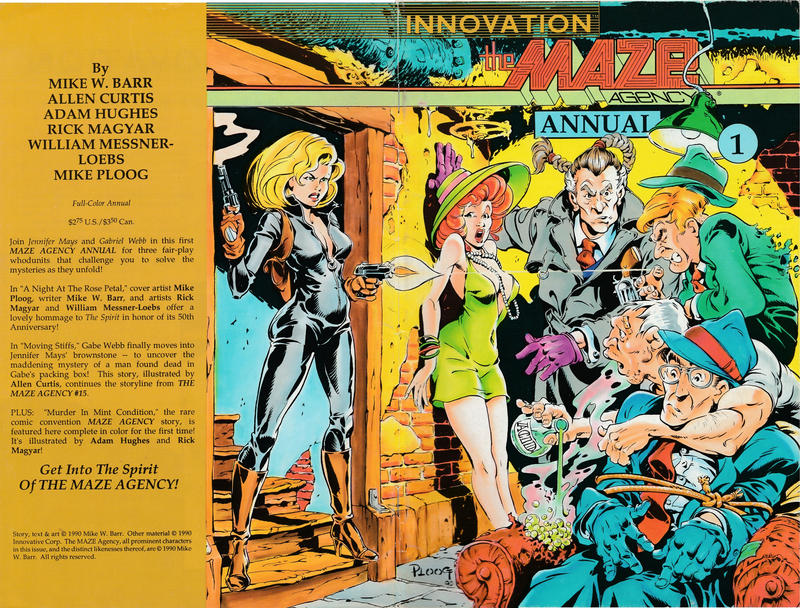 Cover for The Maze Agency Annual (Innovation, 1990 series) #1