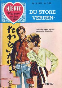Cover Thumbnail for Hjerterevyen (Serieforlaget / Se-Bladene / Stabenfeldt, 1960 series) #4/1971