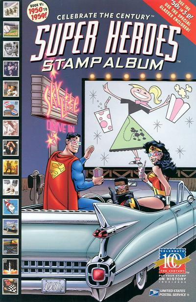 Cover for Celebrate the Century [Super Heroes Stamp Album] (DC / United States Postal Service, 1998 series) #6