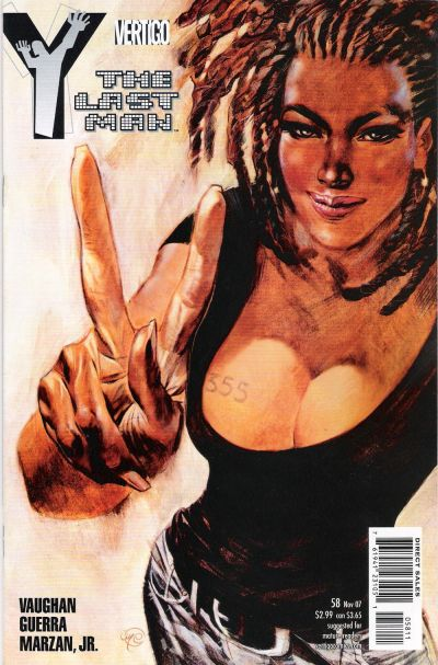Cover for Y: The Last Man (DC, 2002 series) #58